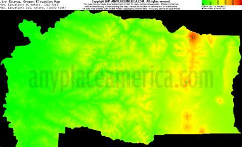 map of oregon elevation free county oregon topo maps elevations