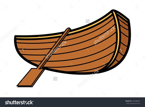 a boat cartoon wooden fishing boat clipart clipground