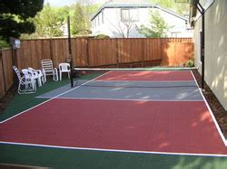 backyard basketball court cost cost tips on creating a backyard sports court the