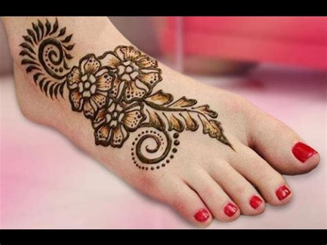 beautiful bridal heena mehndi designs for leg youtube