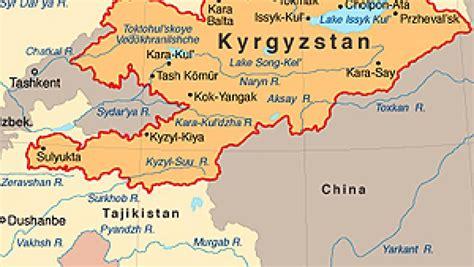 kyrgyzstan map chaos in kyrgyzstan radio international