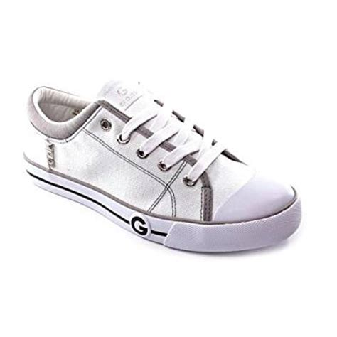 guess athletic shoes g by guess oona womens size 7 white textile athletic