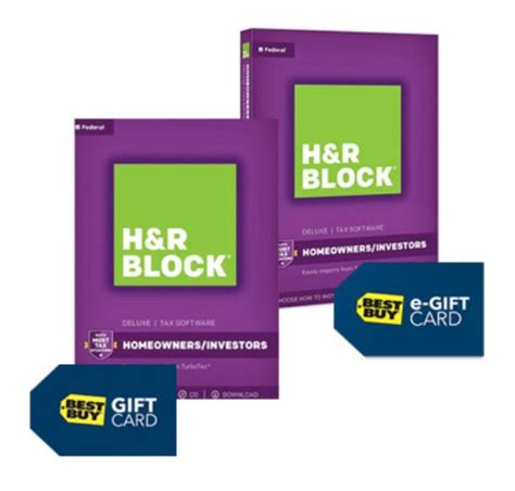 H R Block Gift Card - h r block tax software deluxe 2017 22 50 retail 44 95 free 15 best buy gift
