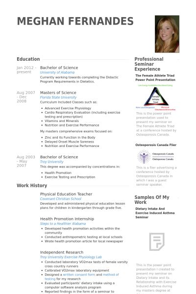 Resume Exles Physical Education Physical Education Resume Sles Visualcv Resume Sles Database