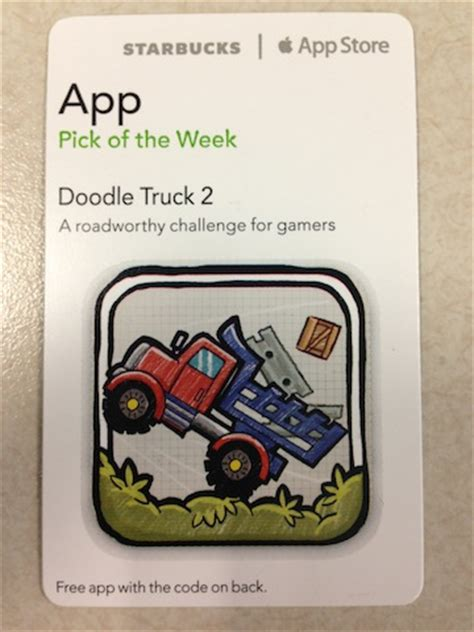 doodle do promo starbucks app of the week doodle truck 2 promo