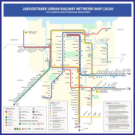 map  greater jakarta jabodetabek rail transport plan