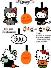 Halloween Decorations To Print Hello Kitty Loft Cute Hello Kitty Freebies For Halloween