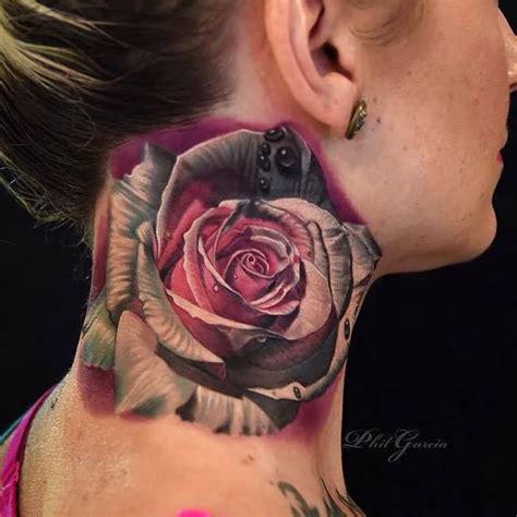 rose throat tattoo 51 best neck tattoos