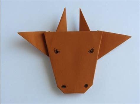 bull origami origami bull