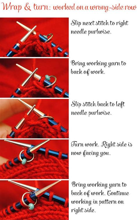 how to turn in knitting row working a wrap turn w t on a wrong side row knitting
