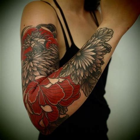 flower tattoo removal red and black flower tattoo on arms tattoos pinterest