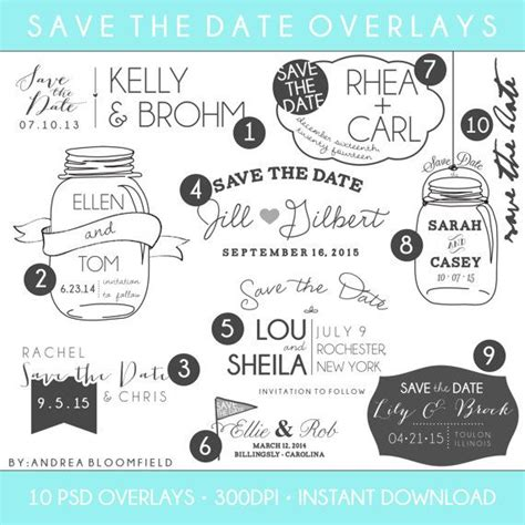 save the date templates photoshop 17 best images about engagement photos on