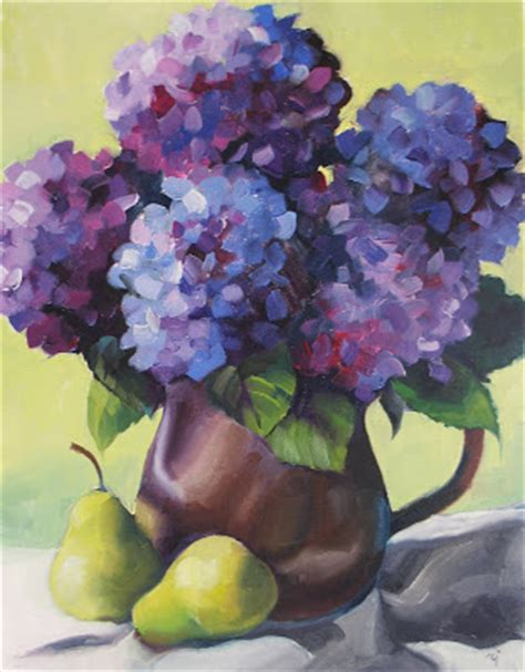 nel s everyday painting triple hydrangeas and a lesson sold nel s everyday painting hydrangeas and pears sold