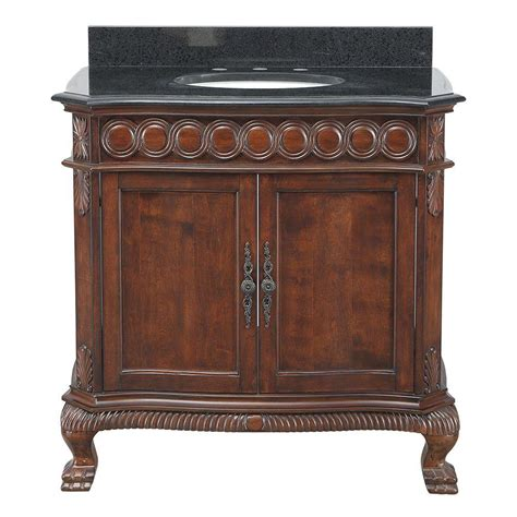Black Antique Vanity by Foret Jordheim 37 In Vanity In Antique Cherry With