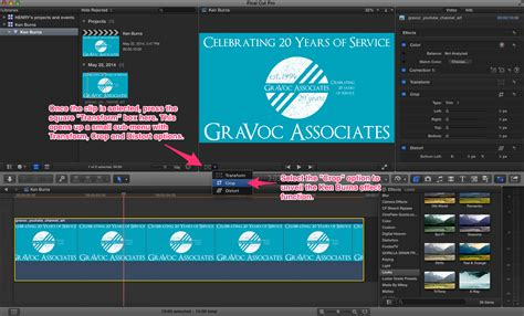 final cut pro reverse clip how to find the ken burns effect in final cut pro x gravoc