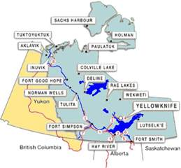 northwest territories canada map maps of canada provinces political and territories