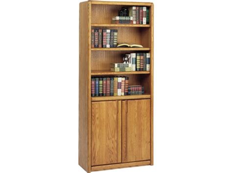 Contemporary Bookcase With Doors 30 Quot Wx70 Quot H Office Bookcases Office Bookcase With Doors