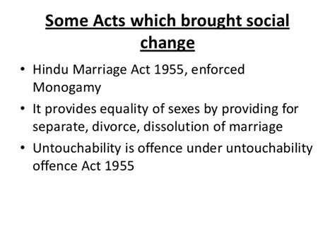 hindu marriage act 1955 section 13b law as an instrument of social change