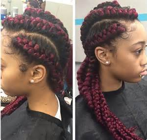 9 year hair braided witb weave red cornrow braids with weave braids pinterest red