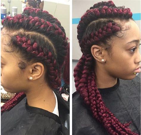 red cornrow braids  weave braids pinterest cornrow