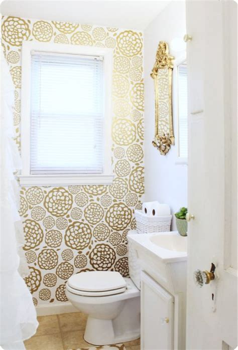 can i wallpaper a bathroom 4 smart ways to use wallpaper in your bathroom
