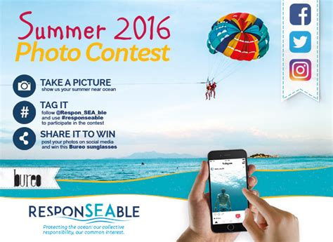 Photo Sweepstakes - summer 2016 photo contest responseable protecting the ocean