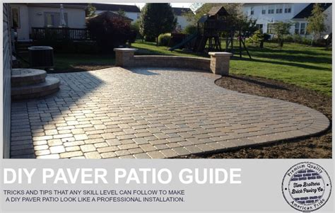 how to install paver patio how to easily install a paver patio that doesn t look like