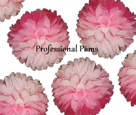 How To Make Mini Tissue Paper Pom Poms - 15 mini tissue paper pom poms 4 5 in diameter you