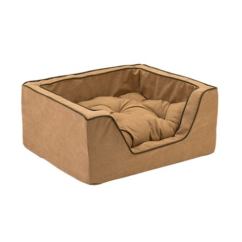 square dog bed snoozer luxury square dog bed w microsuede overstuffed