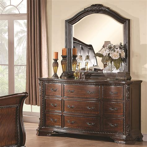 Drawer Dresser With Mirror Coaster Maddison Drawer Dresser With Mirror Sol Furniture Dresser Mirror Sets