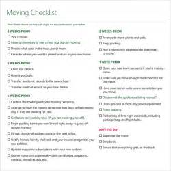 Office Relocation Checklist Template by 11 Moving Checklist Templates Free Exle Sle Format