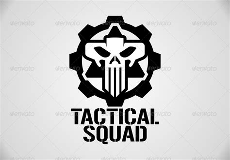 tactical squad skull logo template  matadewa graphicriver