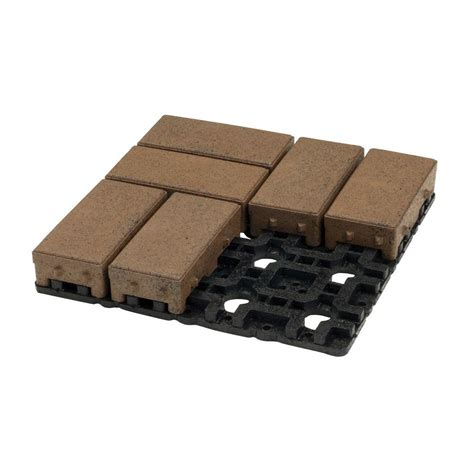 azek 4 in x 8 in olive composite permeable paver grid