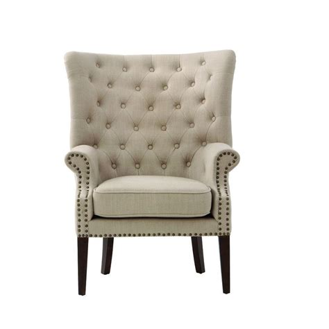 Home Decorators Accent Chairs by Home Decorators Collection Ernest Beige Polyester Arm