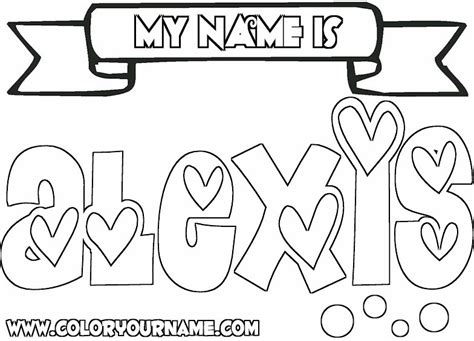 coloring pages of the name claire alexis coloring page