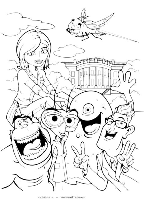 coloring pages of monsters vs aliens monsters vs aliens coloring pages shared by rupert