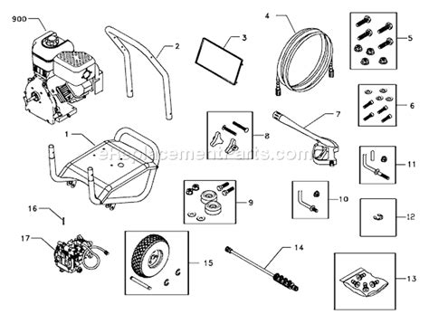briggs and stratton pressure washer parts diagram briggs and stratton 1936 0 parts list and diagram