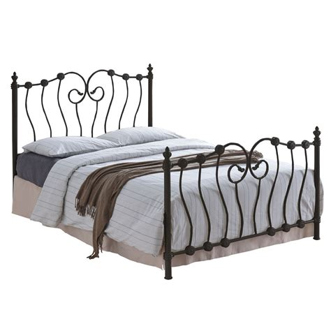 inova black metal bed frame free delivery next day