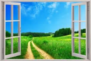 Beautiful Window Window Scene Wallpaper Mural Wallpaper Murals Window