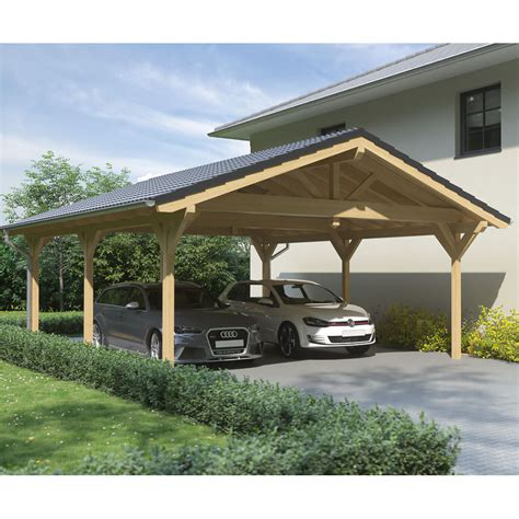 steda carport carport satteldach leimholz holz 6x8 m 600x800 cm