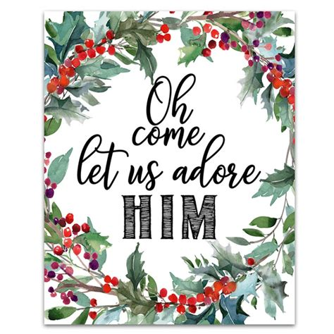 free printable christmas decorations 6 free printable signs six clever
