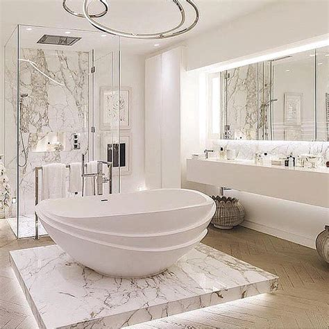 luxury bathroom decor luxurious marble bathroom designs 23 round decor