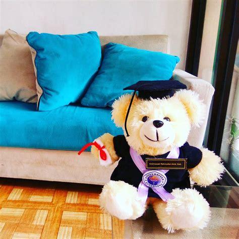 Boneka Wisuda Teddy M 35cm jual boneka wisuda 35 cm kado wisudaku