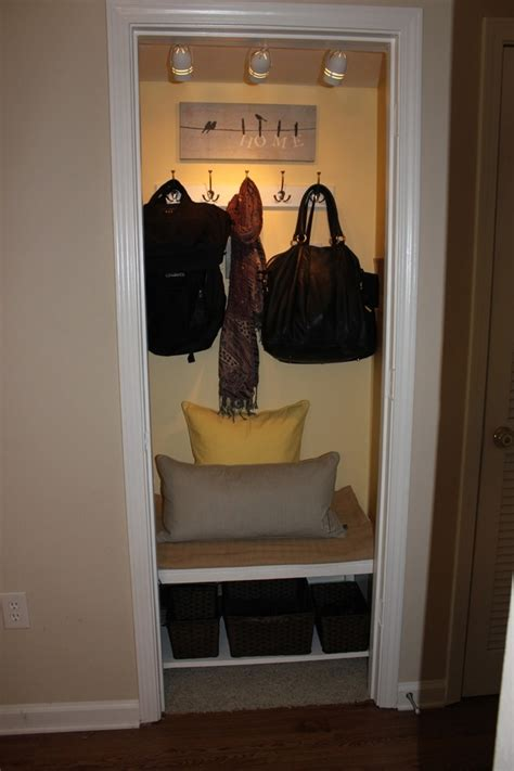 Closet Turned Mudroom by Coat Closet For The Home
