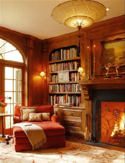 Library Fireplace by Cozy Library With Fireplace For The Home