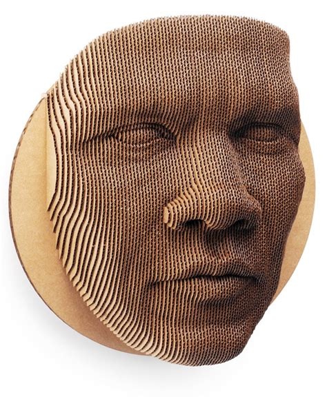 Home Decor With Recycled Materials by An 87 Piece Topographical Cardboard Face Mask Colossal