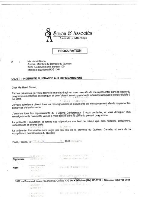 Exemple De Lettre De Procuration En Arabe Modele Lettre Procuration Document