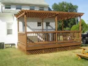 Decking And Pergola by Deck With Pergola Arbor Construction Youtube