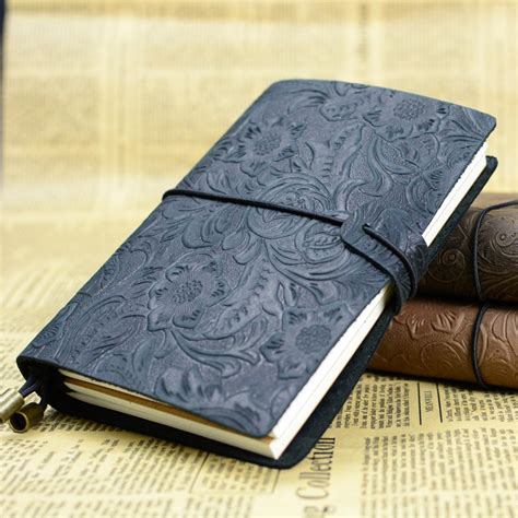 Handmade Leather Notebook - aliexpress buy 1pcs retro tie line travel notebook