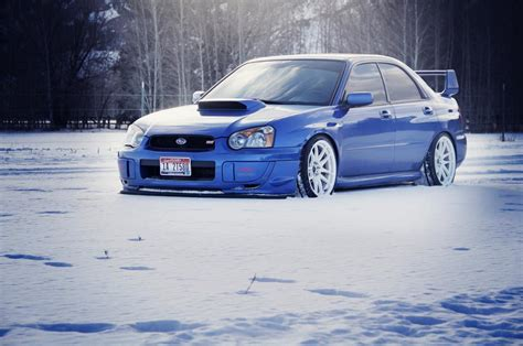 blob eye subaru blob eye 04 05 sti in rally blue best looking